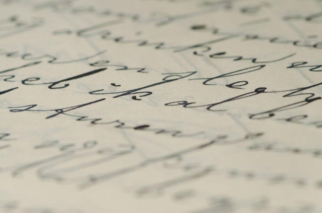 esempio di lettera manoscritta